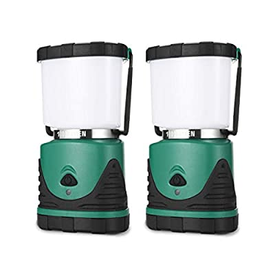 Consciot Camping Lantern with Super Brightness 1000LM, Battery Powered LED Lantern with 4 Lighting Modes, Waterproof, Portable for Camping, Hiking, Fishing, Outdoor Activities, 2 Pack