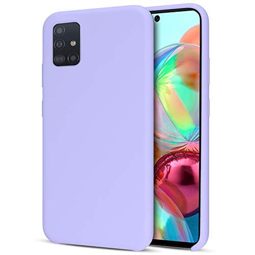 Preisvergleich Produktbild Oureidoo Samsung Galaxy A71 Hülle - Liquid Silikon Handyhülle für Samsung Galaxy A71 - Handy Case in Lila