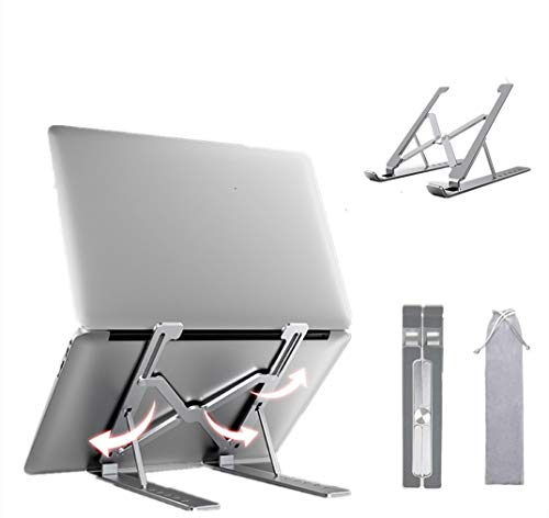 Laptop Stand, 6-Levels Adjustable Laptop Riser Mount, Portable Foldable Laptop Desk Holder,Aluminum Ventilated Computer Stand for Laptops of various brands。