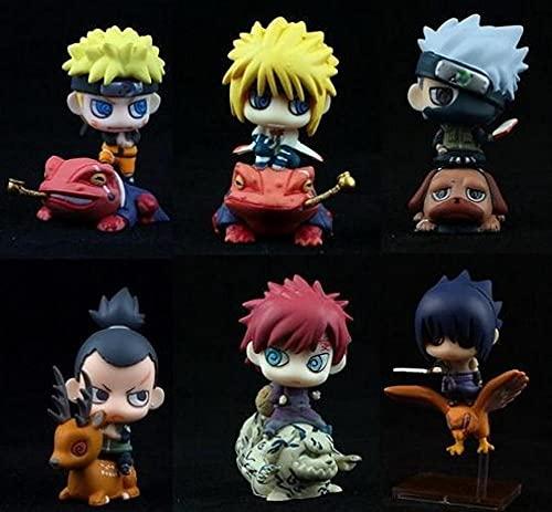 Dangli 6 Pièces/Personnage Q Versión 5 cm Anime Naruto Figurine Jouet Jouet de Noël Anime