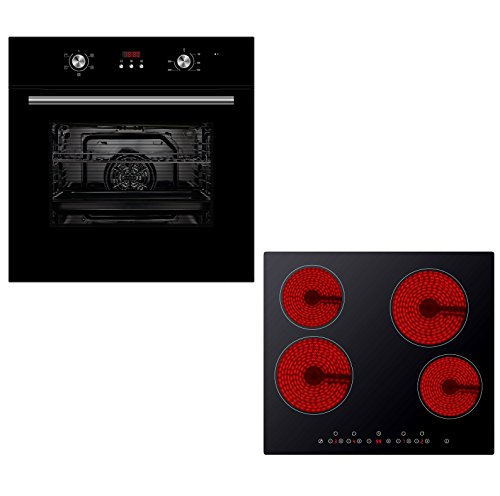 Cookology 60cm Fan Forced Oven with Digital Timer & Built-in Touch...