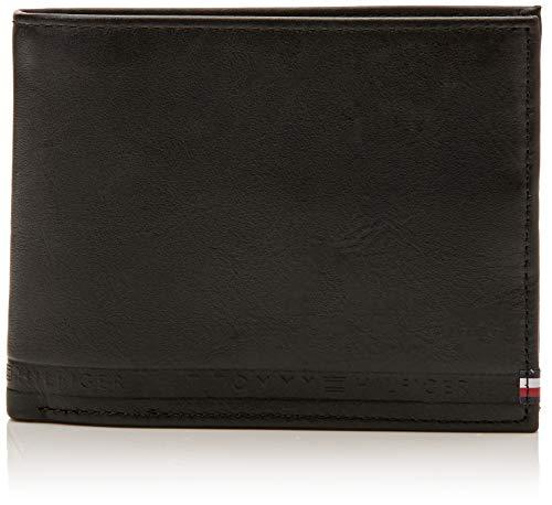 Tommy Hilfiger Selvedge Emboss CC Flap Coin, Portefeuilles Homme, Noir (Black), 2.5x10x13.5 cm (B x H T)