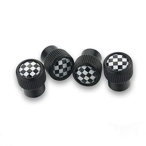 QIDIAN-Tapas de vástago de válvula de aire de rueda de neumático de coche para Mini Cooper S / ONE Clubman F54 F55 R53 R55 R56 R60 R61 para tapas de neumático de la serie Mini Cooper F / R