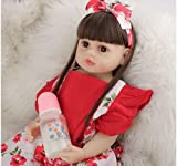 SWEGFDHNT MuñEca Renacimiento De Silicona, 22 Inch 55 Cm MuñEca Renacida - Trae Accesorios De Vestir Bebe Reborn Silicona, Gift Set For Children