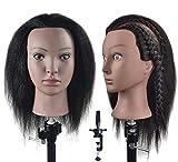 XT Tête de mannequin 100 % cheveux humains pour coiffeur et cosmétologie