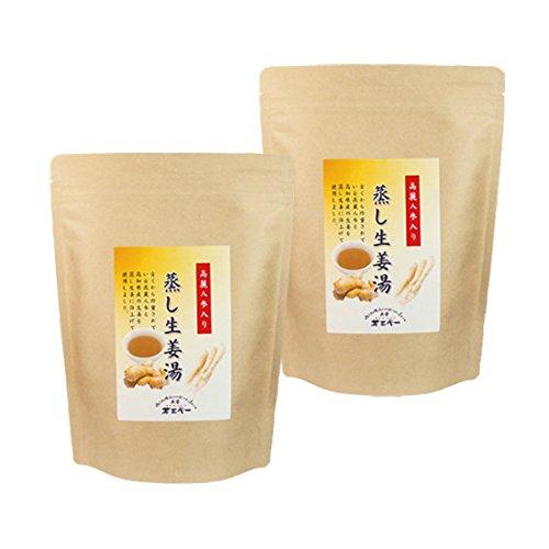 茶三代一 蒸し生姜湯 高麗人参配合 16g×14包×2袋