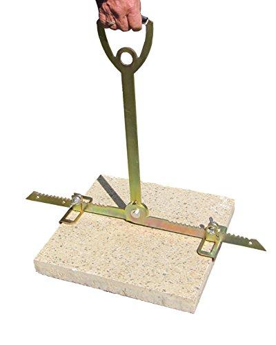 ViD® Plattenheber - Rückenfreundlich durch extra langen Griff - 30 bis 62cm - Tragkraft bis zu 70 kg - Made in Germany