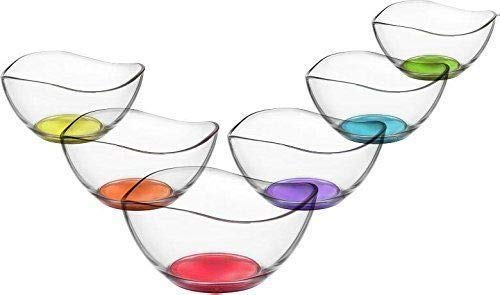 6pc Set of Glass Bowls Dessert Dishes Ice Cream Sundae Fruit Trifle Punch in Box