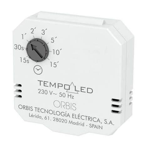 Orbis OB200007 - Temporizador empotrable analógico diario 150 W IP20 2 polos