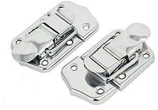 DealMux koffer aktetas 68 mm lengte metaal Toggle Latch Hasp Lock Silver-Ton-2ST