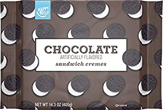 Amazon Brand - Happy Belly Sandwich Cremes, Chocolate Flavor, One 14.3 Ounce Package
