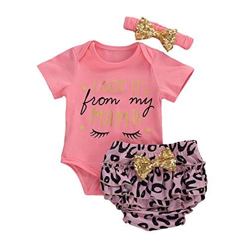 Carolilly Conjunto de ropa para niñas, ropa de bebé, conjuntos de verano para niñas. Rosa C 12-18 Meses