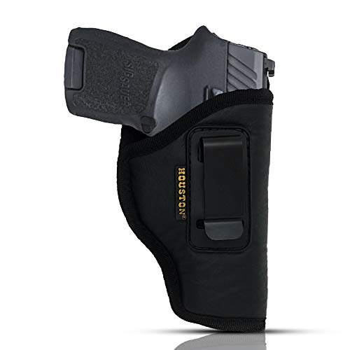 """IWB Gun Holster by Houston - ECO Leather Concealed Carry Soft Material 