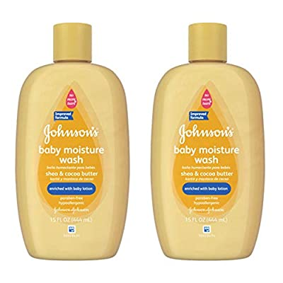 Johnson's Baby Shea & Cocoa Butter Moisture Wash For Soft Skin, 15 Oz. (Pack of 2)