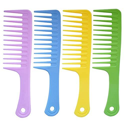 4 Pcs Wide Tooth Comb Detangling Hair Brush Wide Comb Detangler Comb...