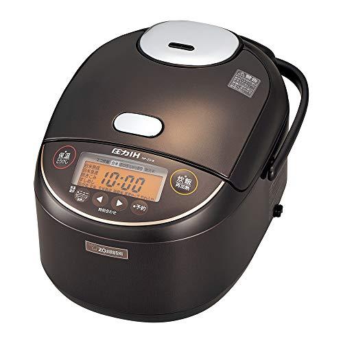 象印 炊飯器 1升 (10合) 圧力IH式 極め炊き 黒まる厚釜 ダークブラウン NP-ZS18-TD