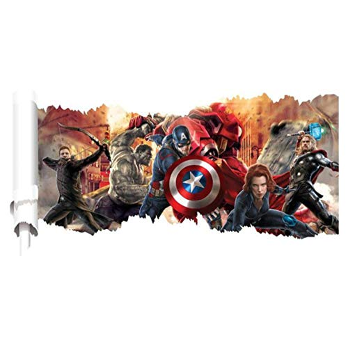 3d Wandtattoo Avengers Zeichentrickfilm 90x46cm Wandaufkleber Schlafzimmer Wohnzimmer Küche Home Decoration Tapete