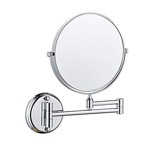 LAX Muur Mount Make-up Spiegel, 7X/10x Vergroting Detail Spiegel, 360° Draaibare Vanity Spiegel, Ronde Cosmetische Spiegel