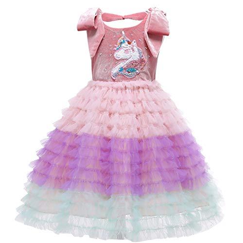 Disfraz de princesa de unicornio para nias con lentejuelas, de terciopelo suave, tut para tarta.