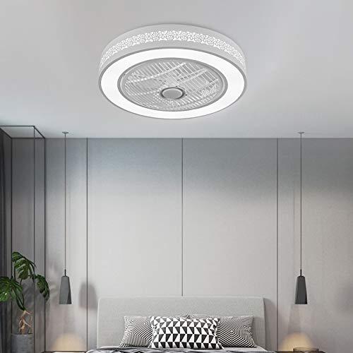 Berkalash Ventilador de techo con iluminación, 3 colores y 3 cascabeles de viento ajustables, con mando a distancia, para dormitorio, salón, comedor