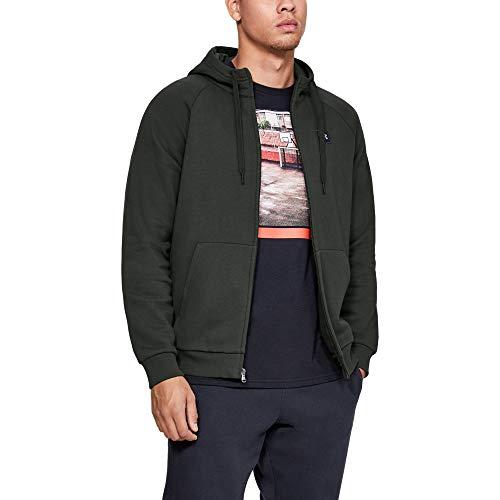 Under Armour Rival Fleece Fz Hoodie, ademende sweatjas voor mannen, comfortabel gebreid vest met strakke pasvorm