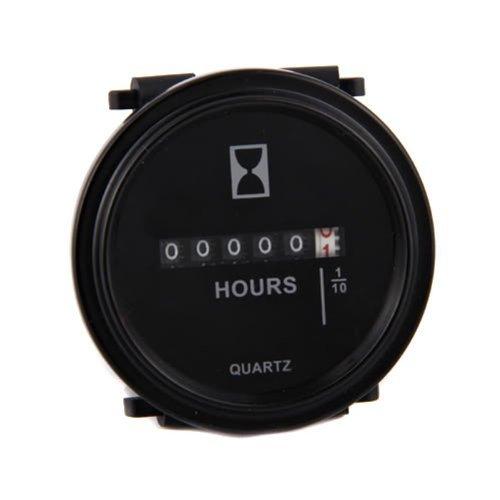 ATOPLEE Quartz ronde Retour anneau de garniture de compteur horaire Bateau Tracteur Générateur moteur Mower Voiturette 48v 24v 12v