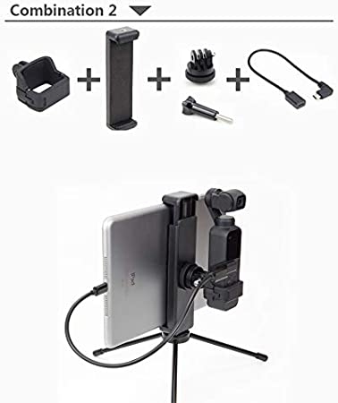 Interface Male to Female MeterMall New for OSMO Pocket Mount Tr Backpack Clip for DJI for OSMO Pocket Accessories Combination 2.2: