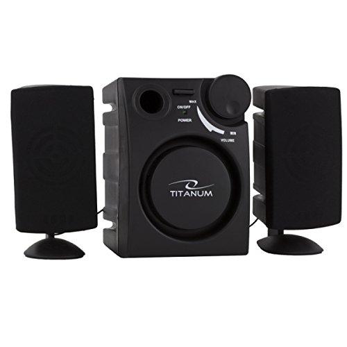 Titanum PC luidspreker Alzando 2.1 USB stereo subwoofer voor computer TV boxen RMS 1W 1500W