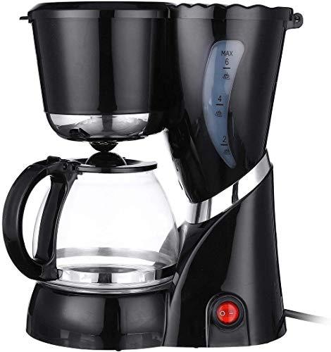 GUOXY Coffee Makers Electric Coffee Maker Hine Tea Drip Coffee Maker Glass Carafe Home Tea Coffee New 600Ml 4-6 Cups Espresso Hines