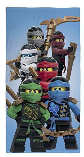 Ninjago Lego Strandtuch Velourstuch 70 x 140cm Duschtuch Badetuch Handtuch 100% Baumwolle Lloyd Kai Zane Cole NYA Jay Assemble