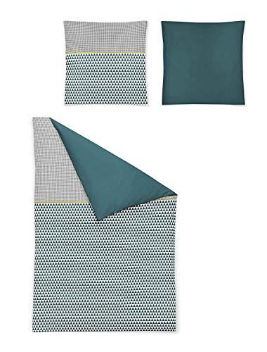 Irisette Mako Satin Bettwäsche 2 teilig Bettbezug 135 x 200 cm Kopfkissenbezug 80 x 80 cm Capri 8160-91 Multi