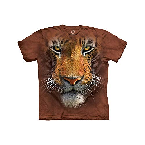 The Mountain Tiger Face Child T-Shirt, Brown, Large