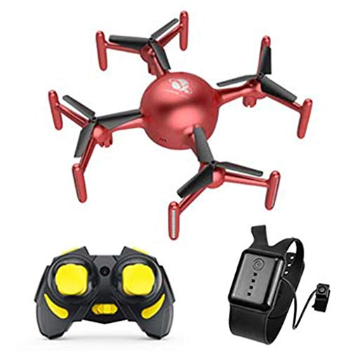 Irjdksd Fernbedienung APP Benutzerdefinierte Programmierung Lichter Vier Achsen Unbemannte Luftfahrzeug 360° Drehbare RC Drohne mit Atmungslicht Quadcopter Kinder Flugzeug Spielzeug