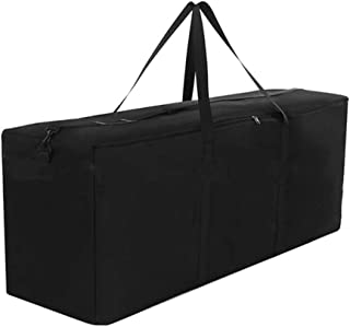 Patio Cushion Storage Bag Waterproof Cushion Cover Outdoor Furniture Cushion Bag 600D Heavy Duty Rectangle with Zipper and...