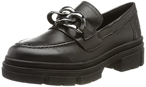 Tamaris Damen 1-1-24708-37 Mokassin, Black Leather, 38 EU