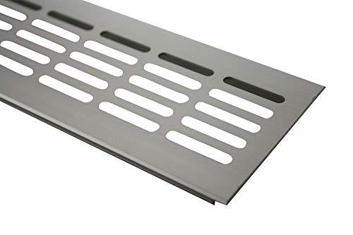 Aluminium Lüftungsgitter Stegblech Lüftung 80mm x 800mm in verschiedenen Farben (Edelstahl eloxiert)