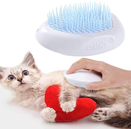 MOMSIV Massagebürste,Haustierkamm,Hundebürste Katzenbürste Haustierkamm Slicker Pet Grooming Brush,Waschbare Pflege Shedding Massage Badebürste für Langes und Kurzes Haar