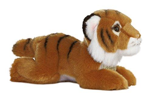 Tigre Marrom Pelúcia Da Série Miyoni Aurora 20cms
