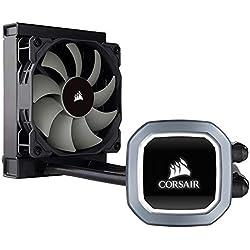 Corsair Hydro H60 2018 All-in-One Liquid CPU Cooler Sistema di Raffreddamento a Liquido per CPU, Ventola PWM Singola Bianco LED, Radiatore da 120 mm, LED Bianco