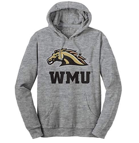 Tee Luv WMU Broncos Hoodie - Hooded Western Michigan University Sweatshirt (Oxford Heather) (3XL)
