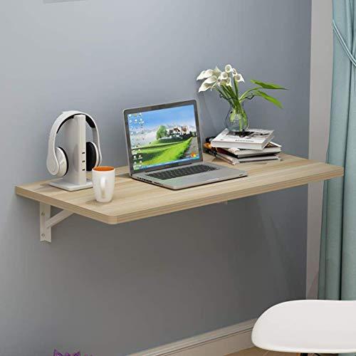 ZXYY Computertafel, inklapbaar, wanddienblad, drijvend, salontafel, boektafel, eettafel, slaapkamer, woonkamer, kaptafel, notebook, opbergtafel (kleur: hout, kleur 120cm-wood Color