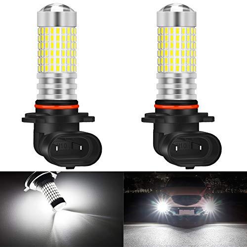 KATUR H10 Bombillas para Luces antiniebla LED 80W 3000LM 6500K Xenón Blanco con proyector para Conducir Luces de circulación diurnas DRL o Luces antiniebla (Paquete de 2)