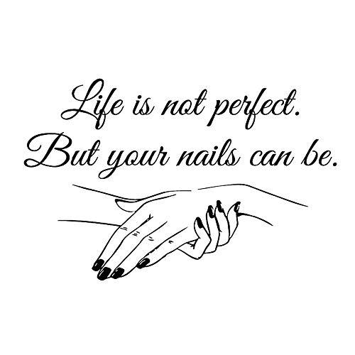 Sticker Nail Salon Citation Ongles Nail Art Polonais Manucure Pédicure Salon de Beauté