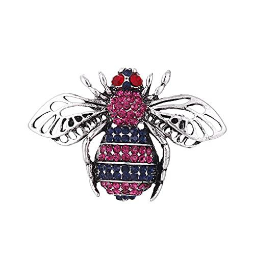 YAZILIND Broche, Broche con Forma de Abeja y Aceite Que gotea, exquisitos Hombres y Mujeres, Ramillete de Insectos, Pasador para el Pecho, joyería (n. ° 6)