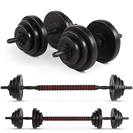Anchor - Juego de mancuernas ajustables (20 kg, para hombres y mujeres)