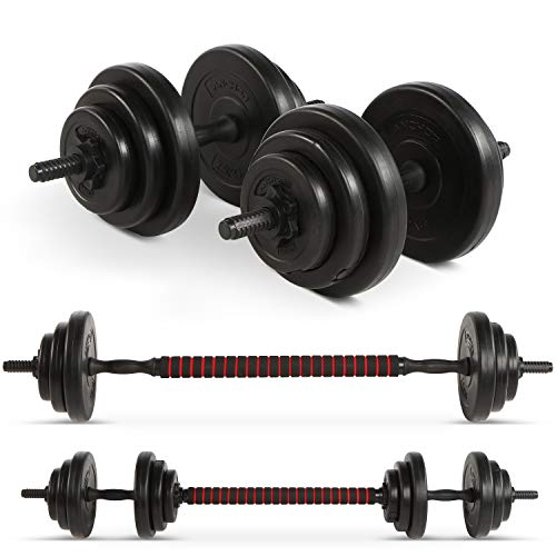 Anchor 20kg Adjustable Dumbbells Weights set for Men Women, Dumbbell hand weight Barbell Perfect for Bodybuilding fitness weight lifting training home gym equipment free weights (20)