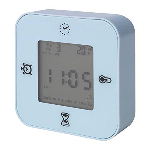 IKEA/イケア KLOCKIS:時計/温度計/アラーム/タイマー ライトブルー (403.848.26)