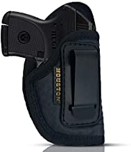 IWB Gun Holster by Houston - ECO Leather Concealed Carry Soft Material | Suede Interior for Protection | Fits: S&W Bodyguard,Taurus TCP, Sig P238, Jimenez JA, PPK380. Ruger (Right) (CHP-71-RH)
