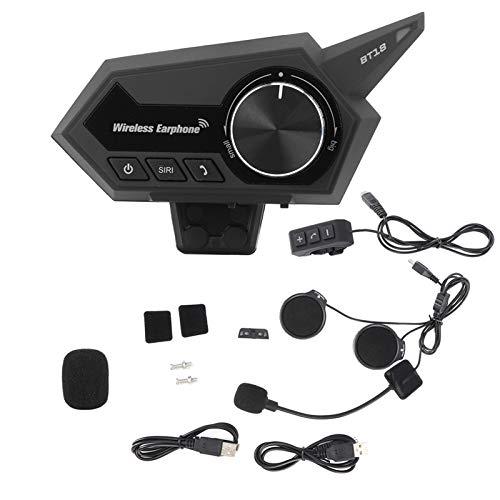 Auriculares para casco EVTSCAN, auriculares Bluetooth para casco de motocicleta, auriculares estéreo recargables impermeables para música, manos libres para montar