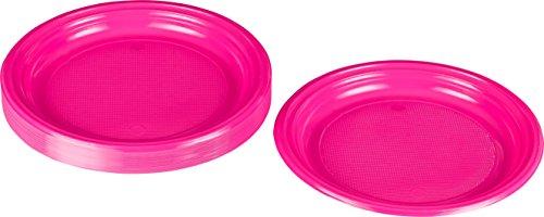 Kigima Einweg Teller Kunststoff pink, 30 STK, DM 22 cm